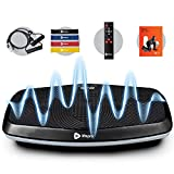 LifePro Hovert 3D Vibration Plate Machine - Dual Motor Oscillation, Lateral + 3D Motion Viberation Platform Machine - Full Whole Body Vibrarating Machine for Home Exercise & Fitness (Black)
