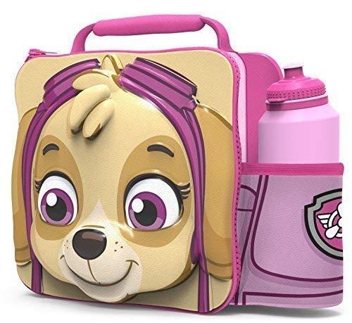 PAW PATROL Kids Children 3D Lunch Box Bag With Sport Water Bottle