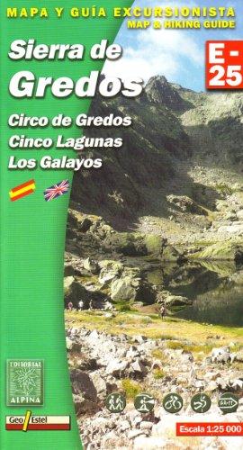 Sierra de Gredos, mapa excursionista. Escala 1:25.000. Alpina Editorial. (E-25. Mapas guía excursionistas)