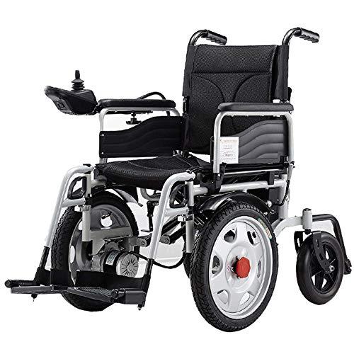 Angelay-Tian Silla de Ruedas eléctrica, Motores de Grupo Dual de 500 W de Alta Potencia, fácil de Cambiar Entre Manual y eléctrico para usuarios Mayores, discapacitados y discapacitados