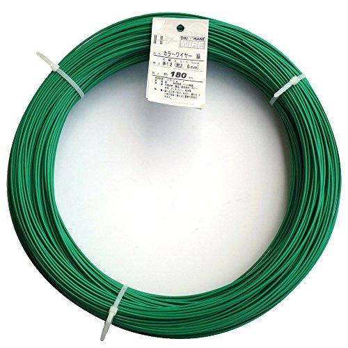 ダイドーハント (DAIDOHANT) 針金 [ビニール被覆] カラーワイヤー グリーン ( 緑 ) [太さ] #12 (2.6 mm x [長さ] 180m 10155468