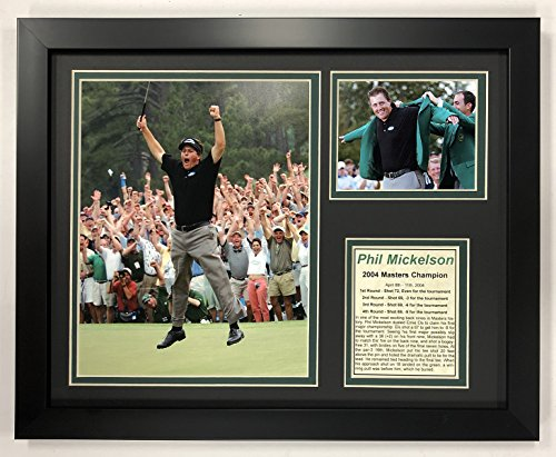 Legends Never Die Phil Mickelson - 2004 Masters Champion - Framed 12