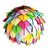 Crazy Harlekin, Ø 35cm, bunte Papierlampe Hängelampe Lampe Lampenschirm Pendellampe Designerlampe...