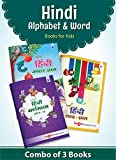 Nurture Hindi Alphabet and Words Learning Books for Kids | 3 to 7 Year old | Practice Hindi Varnamala, Barakhadi, Akshar / Letter and Shabd Gyan | Hindi Language Reading and Writing Books with Pictures for Children | Set of 3 Books