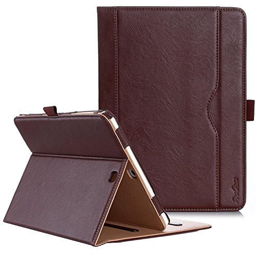 ProCase Samsung Galaxy Tab S2 9.7 Case - Premium PU Stand Folio Case Cover for Galaxy Tab S2 Tablet (9.7 inch, SM-T810 T815 T813) -Brown