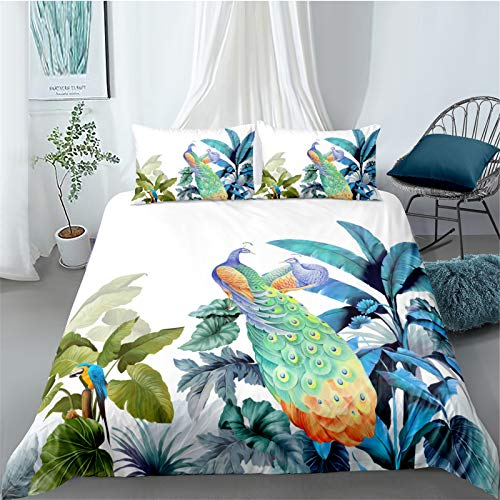 YYSZM Bedding Home Textiles Quilt 3D Bird Soft And Comfortable Three-Piece Suit 1 Quilt Cover 2 Pillowcases 228x228cm