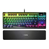 SteelSeries Apex Pro TKL Mechanical Switches Gaming Keyboard with OLED Smart Display (Renewed)