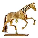 U.S. Art Supply Wooden 12' Horse Artist Drawing Manikin Articulated Mannequin