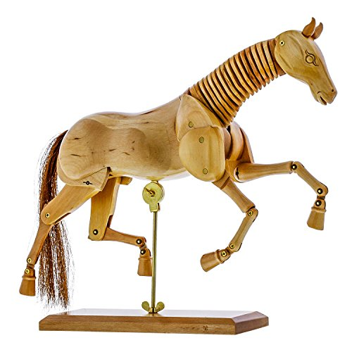 US Art Supply Wooden 8' Horse Artist Drawing Manikin Articulated Mannequin (8' Horse)
