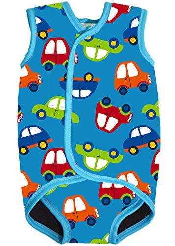 AOQUSSQOA Baby/Kleinkind Neoprenanzug Weste Design für Jungen/Mädchen 0-3 Jahre mit UPF50 (M (6-18 Monate),Auto)