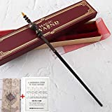 BIN Colección Noble Varita de Caracteres Wandarding Wand Wand con Etiqueta de Nombre Set de película Harry Potter Movie Sops varitas con el Mapa del merodeador Lista de hechizos,Minerva