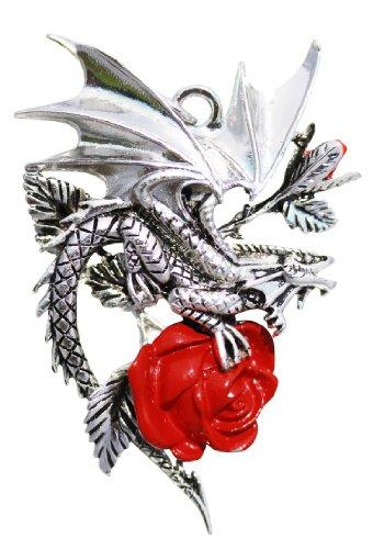 Draca Rosa (Roter Drache) - für Charisma und Mut - Anne Stokes Carpe Noctum Amulette - Anhänger Halskette Geschenk Box