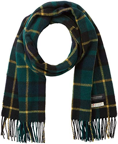Scotch & Soda heren sjaal Classic woven check scarf in wool-blend quality
