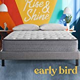 Early Bird Fusion Hybrid 10-inch Medium Firm Mattress Cooling Gel Memory Foam Comfort and Innerspring Support, Bed in a Box, CertiPUR-US Certified, Made in The USA, Twin XL
