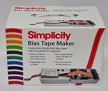 Simplicity 881925 Bias Tape Maker Machine Folds and Irons 12  Binding