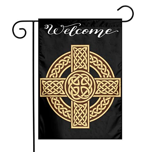 DOOD HYQZ Celtic Cross Irish Scottish Garden Flag 1218' Family Decorative Xmas Welcome Banner Outside Yard Mailbox Festival Colours Ornaments House Decoration
