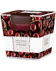 Pajoma Doftljus 'Vilda körsbär' i satinerat glas, 124 g, brinntid: 25 timmar, inkl. ädel presentförpackning