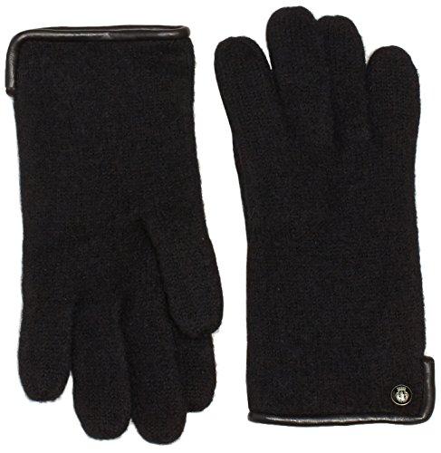 Roeckl Damen Klassischer Walkhandschuh Handschuhe, Schwarz (Black 000), 7.5