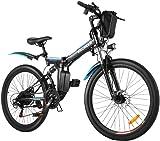 Speedrid Vélo Électrique Pliant, Vélo de Montagne 26' Vélo à Assistance Électrique pour Adulte avec Moteur Haute Vitesse 250W et Batterie au Lithium 36V 8Ah, Professionnel 21 Vitesses