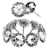Kyrio Botones de imitación para coser con cabeza de cristal, tachuelas decorativas de diamante para sofá, cama, cabecero, manualidades, decoración de bricolaje (25 mm)