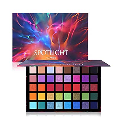 UCANBE Spotlight Eyeshadow Palette Professional 40 Color Eye Shadow Matte Shimmer Makeup Pallet Highly Pigmented Colorful Powder Long Lasting Waterproof Eye Shadow