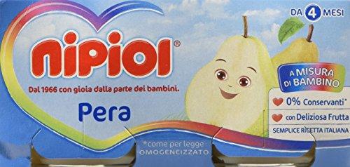 Nipiol Omogeneizzato Frutta, Pera - 24 Vasetti da 80 gr