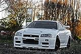 Driver Motorsports Nissan Skyline R34 Z-Tune GTR GT-R White Left Front HD Poster Super Car 24 x 16 Inch Print