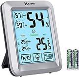 Habor Thermometre Interieur, Grand Hygrometre Interieur Rétro-éclairé, Termomètre...