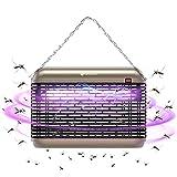 YUNLIGHTS Lampada Antizanzare Elettrica: 20W Luce UV Zanzariera Elettrica Silenziosa Alta Tensione 2000V Interno Esterno Trappola per Zanzare Lampada Facile da Pulire mosquito Killer per Casa Giardino