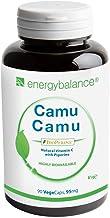 Camu Camu - Vitamina C + BioPerine 95mg - Alta biodisponibilidad - Calidad Premium - Antioxidantes - Vegano - Sin gluten - Sin aditivos - Sin OGM - 90 VegeCaps