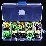 Fishcm Fishing Jigs with Fishing Tackle Box - Fishing Hooks Saltwater Set Kit Freshwater Fish Jig Heads (100pcs 1g~2g)