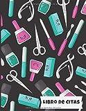 Libro de Citas: Libreta para Apuntar y Agendar Citas para Manicure o Pedicure, Cuidado de Uñas Manicurista Spas, Tema kawaii con Horas en Incrementos ... de las 7 am a 8 pm 52 semanas 8.5 x 11 in