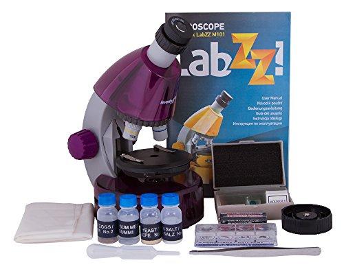 Levenhuk Microscopio per Ragazzi LabZZ M101, Color Ametista, con Kit per Esperimenti – Scegli Il Tuo Colore Preferito