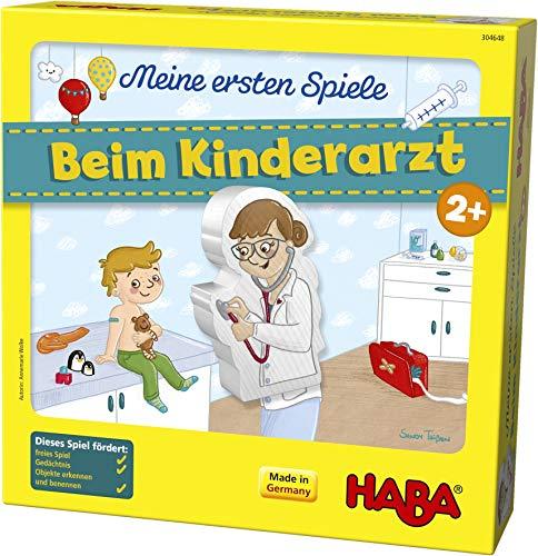 HABA 304648 - Meine ersten Spiele – Beim Kinderarzt, Lern- und Memospiel für 1-4 Spieler ab 2 Jahren, bereitet spielerisch auf den Artzbesuch vor