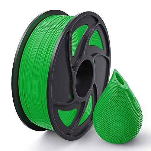 Anet 3D Printer Filament, PLA Printing Supplies for 3D Printer, Dimensional Accuracy +/- 0.02 mm, 1.75mm 1kg (2.2LBS) Spool(Green)