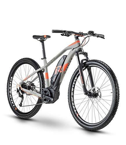 RAYMON Hardray E-Nine 5.0 - Bicicleta eléctrica (29', 45 cm), color gris y rojo