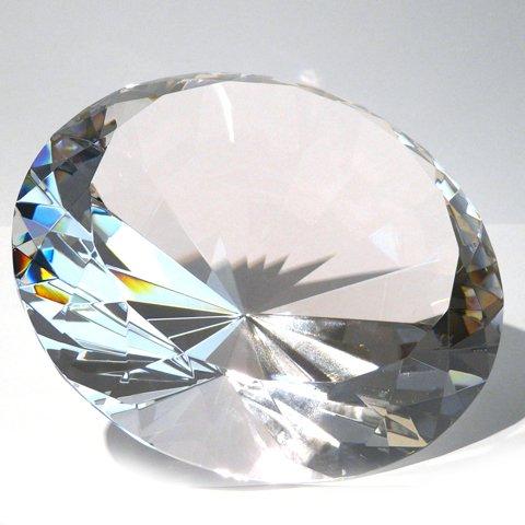 Vevendo 15 cm Glasdiamanten mit 96 Facetten als Deko-Diamant, Glas-Diamant in Klar