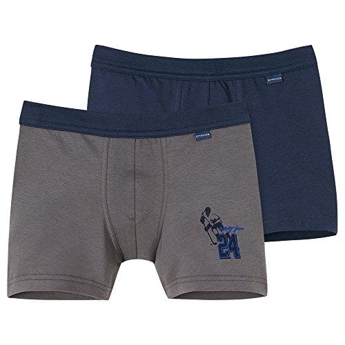 Schiesser Jungen 2Pack Shorts Boxershorts, Mehrfarbig (Sortiert 1 901), 140 (2erPack