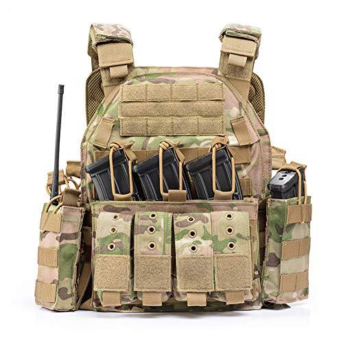 QP Vielseitige Leichte Taktische Weste Weste Armee Fan Im Freien Feldschutz Kampf Überlebens-Training Abnehmbare Nylon,Camouflage