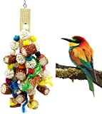 Acidea Bird Block Knots Tearing Toy -Natural Corn Cob Parrot Chewing Toy Suggested for Macaws Cokatoos,Parakeets, Conures, African Grey and a Variety of Amazon Parrots