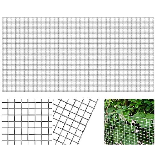 FIGFYOU Alambre tejido de acero inoxidable, 5 malla de malla de acero inoxidable, malla de alambre tejida para control de insectos de roedores, malla metálica a prueba de plagas(30 x 60 cm)