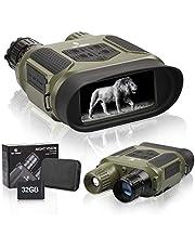 Binoculares de visión nocturna de caza binocular infrarroja visión nocturna caza binocular con pantalla grande de 4 pulgadas puede grabar día o noche IR 5mp foto y 640p vídeo a partir de 400M
