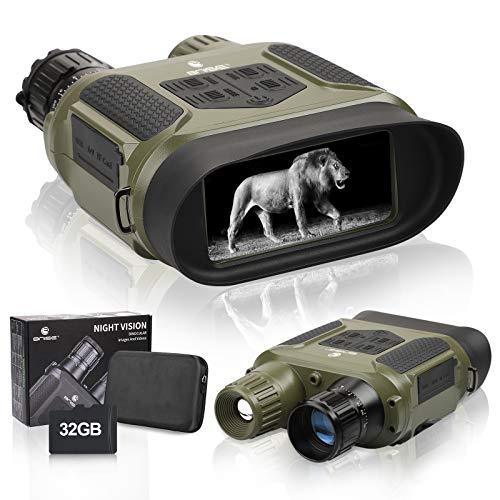 Nachtsichtgerät, Infrarot-Nachtsicht, Jagd-Fernglas mit 10,2 cm großem Bildschirm, kann Tag- oder Nacht-IR-Fotos und 640p-Videos von 400 m aufnehmen.