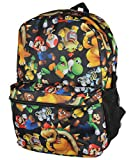 Super Mario Bros. Backpack All Over Character Print 16' Bag