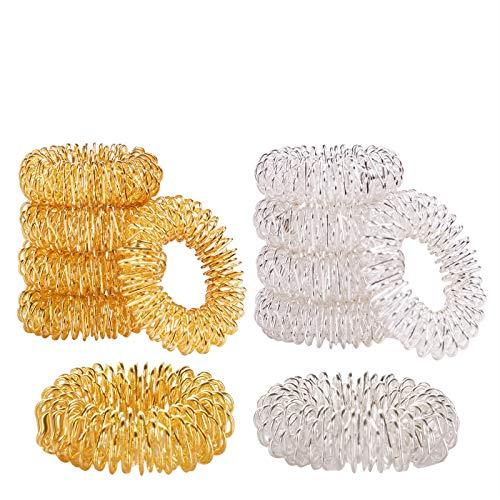 moinkerin 10 Stücke Akupressur Massageringe Finger Massage Ring Anti Stress Fingermassagering für Jugendliche Erwachsene Wellness-Behandlung und Stressbewältigung