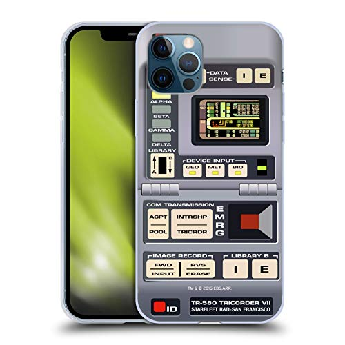 Head Case Designs Officially Licensed Star Trek Tricorder Gadgets TNG Soft Gel Case Compatible with Apple iPhone 12 / iPhone 12 Pro