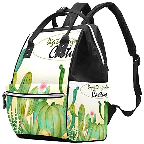 WJJSXKA Zaini Borsa per pannolini Laptop Notebook Zaino da viaggio Hiking Zainetto per donna Uomo - verde acquerello