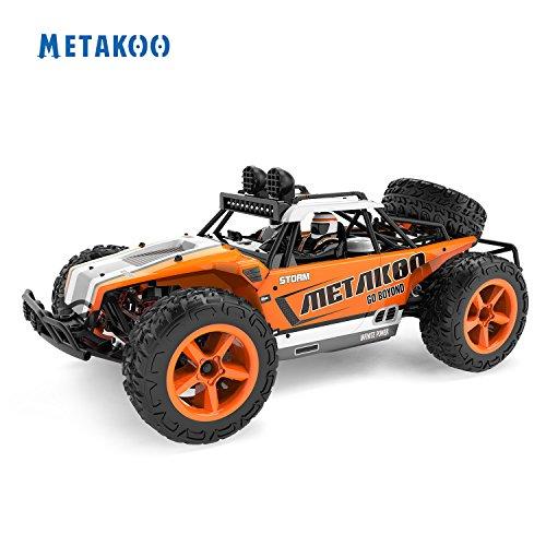Metakoo RC Auto Fuoristrada Alta velocità 45 km/h Scala di 1:12 100M 15 Minuti Telecomando Riproduzione tempi 4WD Veloce Race Truck 2.4GHz elettrico Buggy Hobby Auto