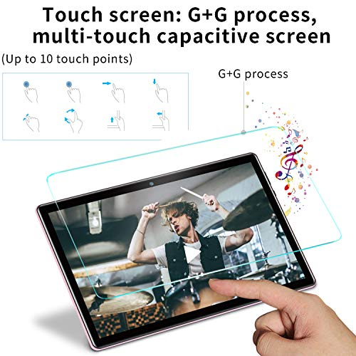 AOYODKG 10 Inch Tablet with Keyboard Case