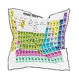 XLING - Bufanda cuadrada de seda ligera y atómica con tabla periódica de los elementos, para mujeres y hombres